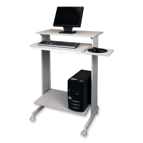 "Buddy Products Stand-Up Workstation, 29-1/2""x19-5/8""x44-1/4"", GY"