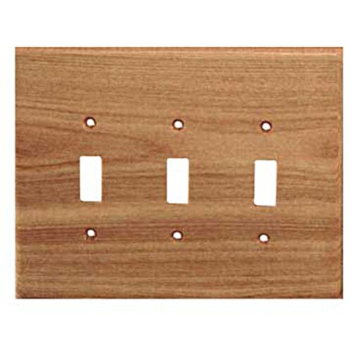 Traditional 3 Toggle Unfinished Switch Plate