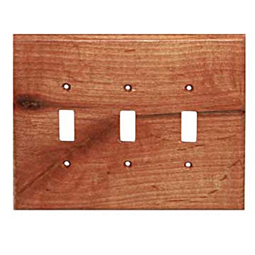 Traditional 3 Toggle Switch Plate