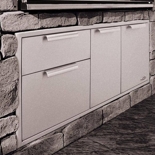 "DCS Grills 48"" Built In Stainless Steel Storage Drawer"