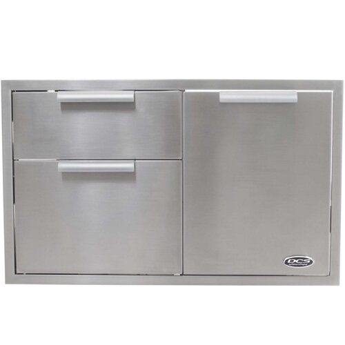 "DCS Grills 36"" Built In Stainless Steel Storage Drawer"