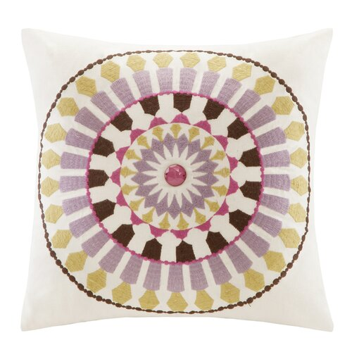 Vineyard Paisley Cotton Faux Linen Pillow