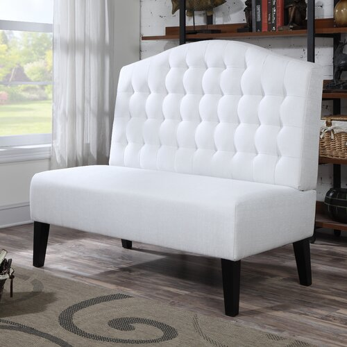 Upholstered Dining Banquette: PRI Upholstered Banquette In Ivory & Reviews