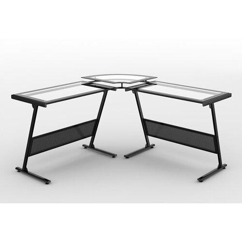 Z-Line Designs Delano Glass L-Shape Computer Desk