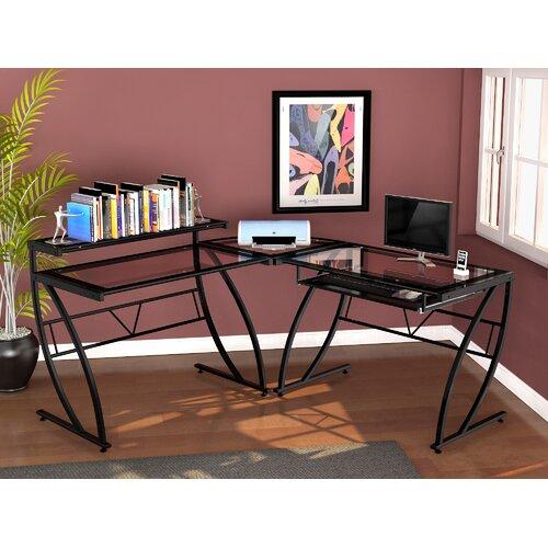 Z-Line Designs Chandler Glass L Desk
