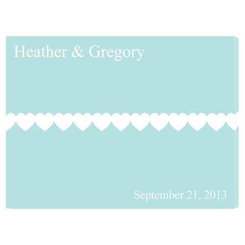Personalized Gift Signature Follow Your Heart Graphic Art on Canvas