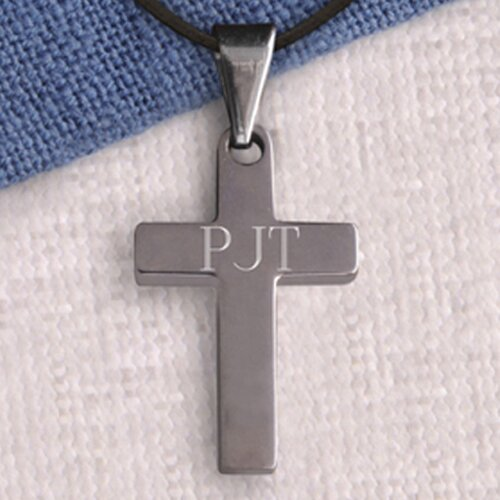 JDS Personalized Gifts Personalized Gift Simple Cross Necklace