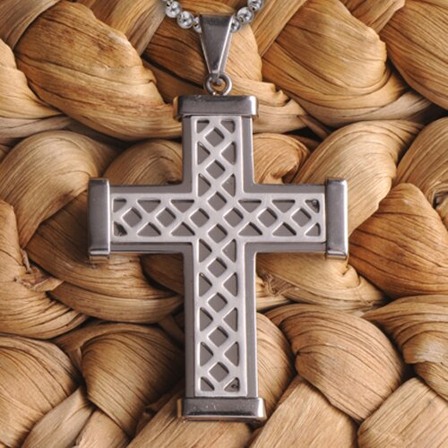 Personalized Gift Weave Cross Necklace
