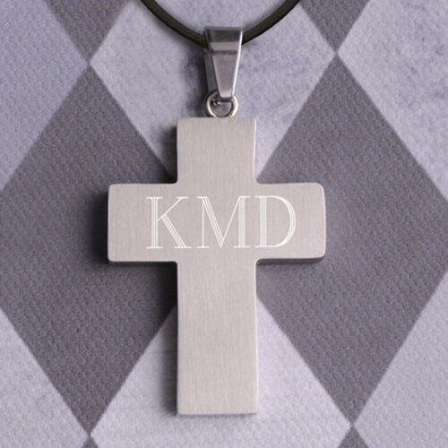 JDS Personalized Gifts Personalized Gift Inlay Cross Necklace