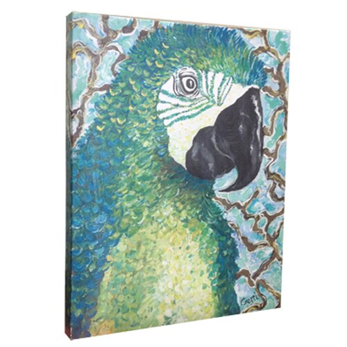 My Island Macaw Mounted by Giclee Gerri Hyman Painting Print on Canvas