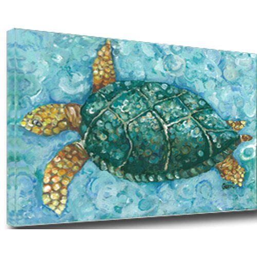 Turtle Mounted by Giclee Gerri Hyman Painting Print on Canvas
