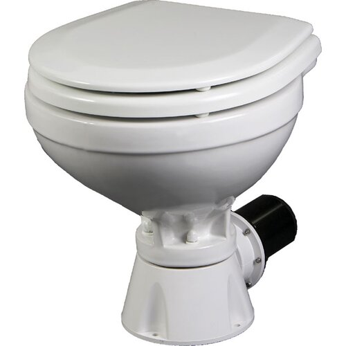 Aqua Jet Compact Silent Electric Marine Round 1 Piece Toilet