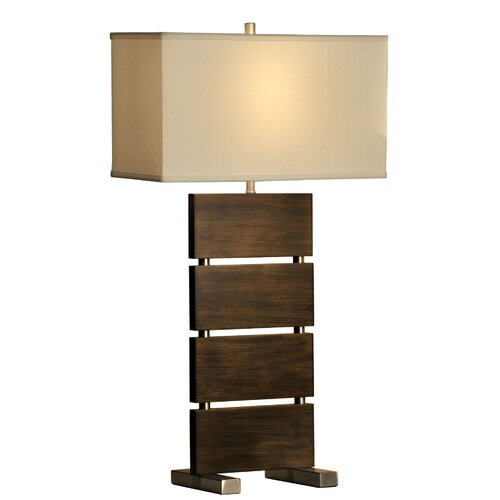 """Nova Divide Standing 32"""" H Table Lamp with Rectangle Shade"""