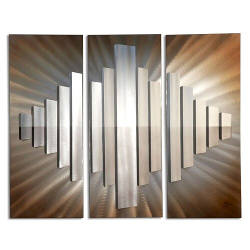 Nova 3 Piece Jon Gilmore Sunburst City Wall Décor Set