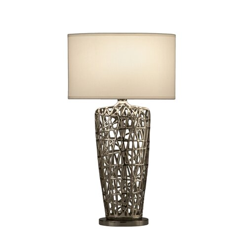 """Nova Bird's Nest Heart 30"""" H Table Lamp with Empire Shade"""
