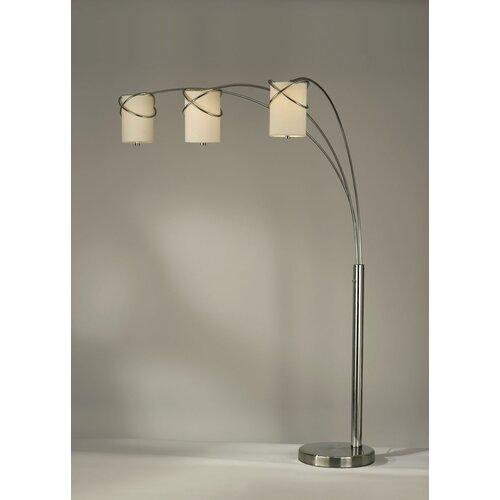 nova internal 3 light arc floor lamp reviews wayfair. Black Bedroom Furniture Sets. Home Design Ideas