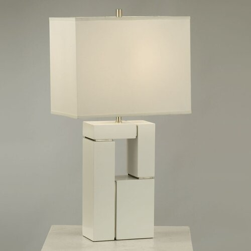 "Nova Segments 28"" H Table Lamp with Rectangle Shade"