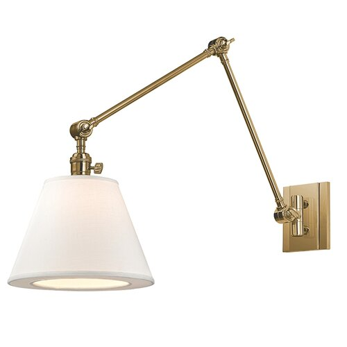 Wall Lights With Swing Arm : Hillsdale 1 Light Swing Arm Wall Sconce Wayfair