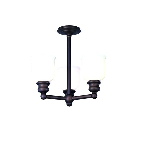 Riverton 3 Light Semi-Flush Mount