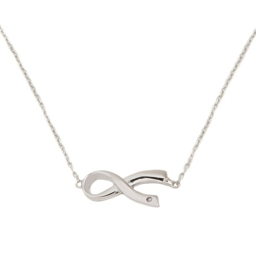 Sterling Silver Sideways Awareness Necklace