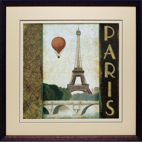 'City Skyline Paris' by Marco Fabiano Framed Vintage Advertisement