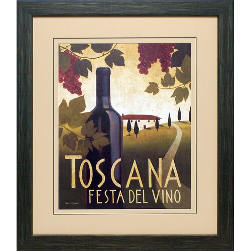 North American Art 'Wine Festival I' by Marco Fabiano Framed Vintage Advertisement