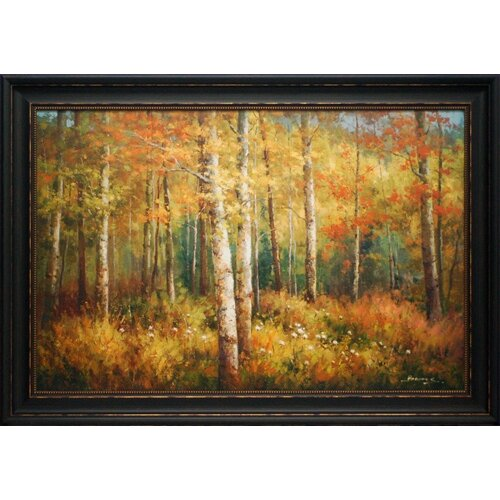 'Aspen Woods' by Robert Barnes Framed Painting Print