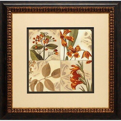 North American Art Botanical Quadrant IV by Vision Stuido Framed Graphic Art