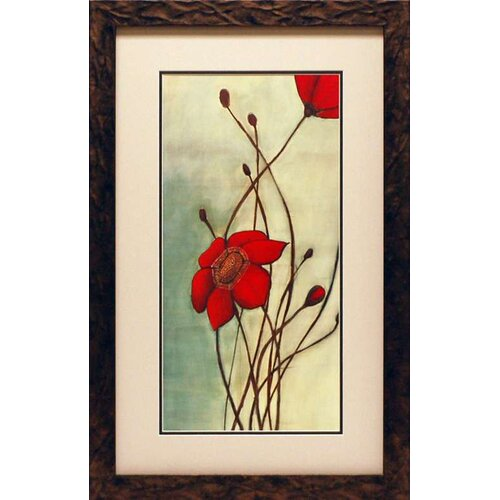 North American Art 'Beaute Rouge' by Ella Codo Framed Painting Print