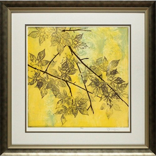North American Art Fluttering Maple I by Jennifer Goldberger Framed Graphic Art