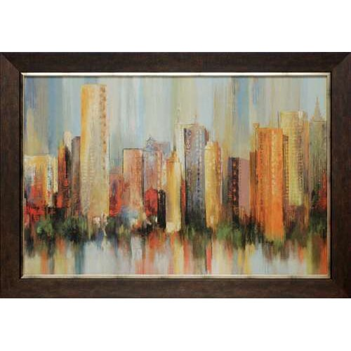 North American Art 'Metropolis' by Tom Reeves Framed Painting Print