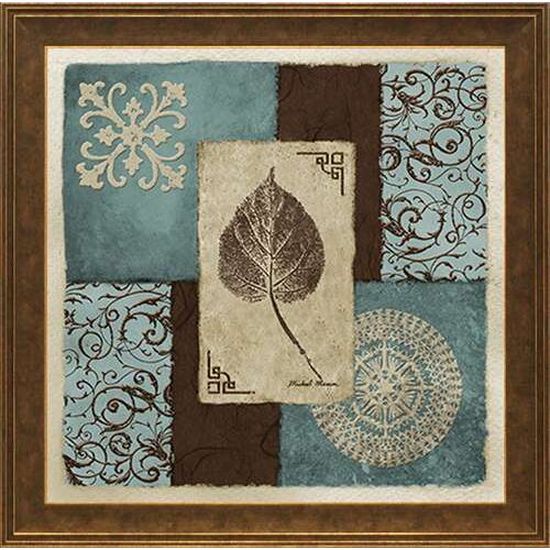 'Winter Leaf I' by Michael Marcon Framed Graphic Art
