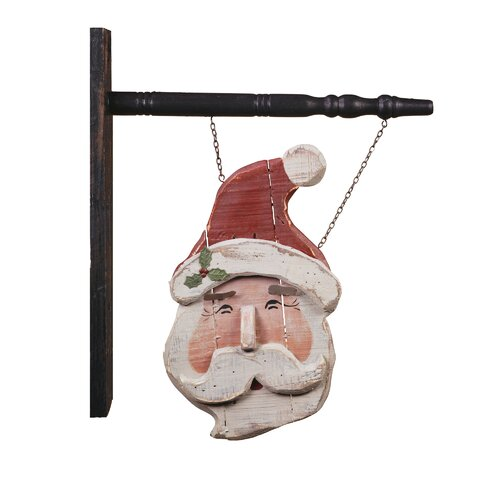 Hanging Santa Sign Christmas Decoration