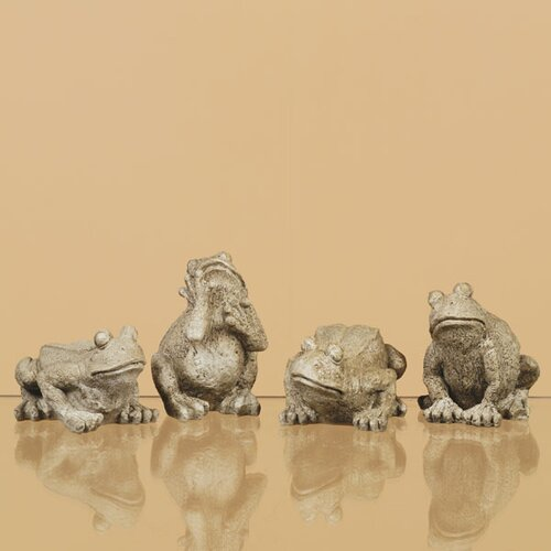 Oddity Inc. 4 Piece Look Frog Figurine Set