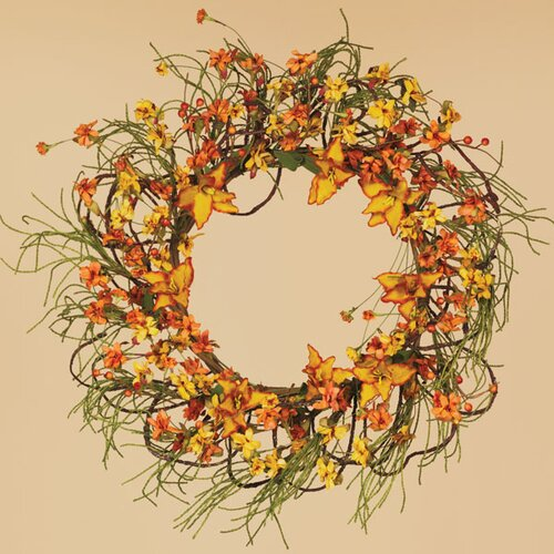 Oddity Inc. Fall Tiger Lily Tendril Ropes Wreath
