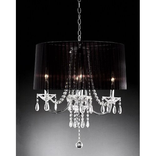 4 Light Crystal Drop Chandelier