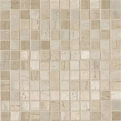 Travertini Polished Mosaic Floor and Wall Tile in Beige/Cream