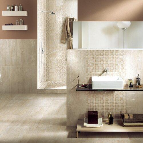 "Samson Tile Travertini 18"" x 36"" Matte Floor and Wall Tile in Beige (Box of 3)"