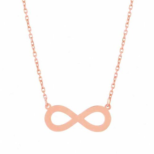 Flirt Jewelry Sterling Silver Infinity Necklace