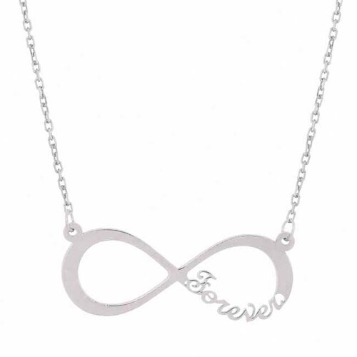 Flirt Jewelry Sterling Silver Forever Infinity Necklace