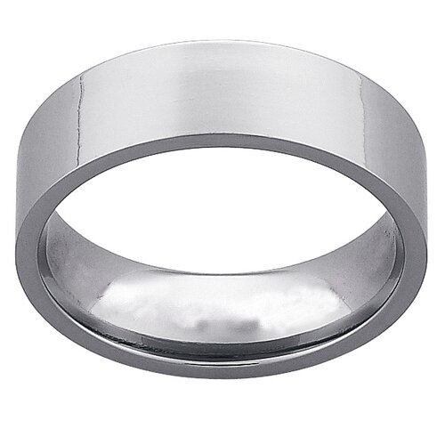 Men's Titanium Flat Wedding Band