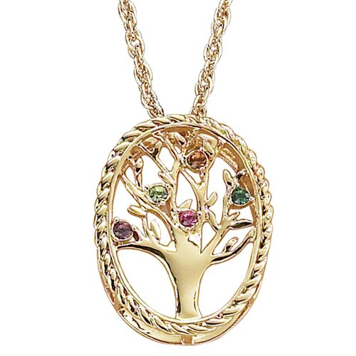 Remy and Rose Family Tree Birthstone Necklace - 5 stone