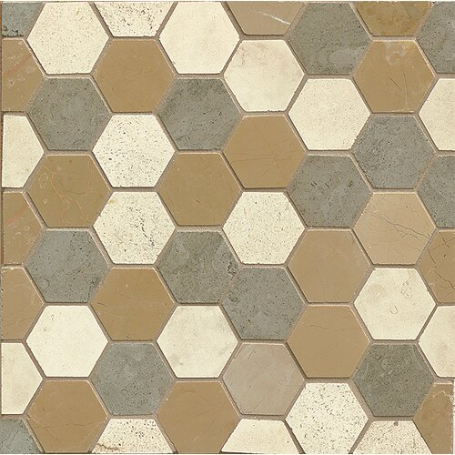 Stone Mosaic Blend Tile In Hexagon