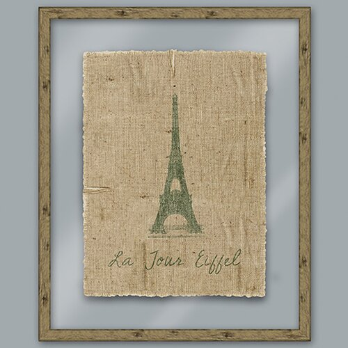 Epic Art Green Eiffel Framed Graphic Art