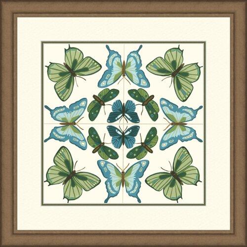 Butterfly Tile III Framed Graphic Art