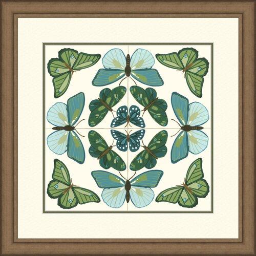 Butterfly Tile II Framed Graphic Art