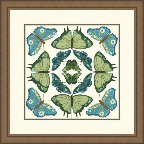 Butterfly Tile IV Framed Graphic Art
