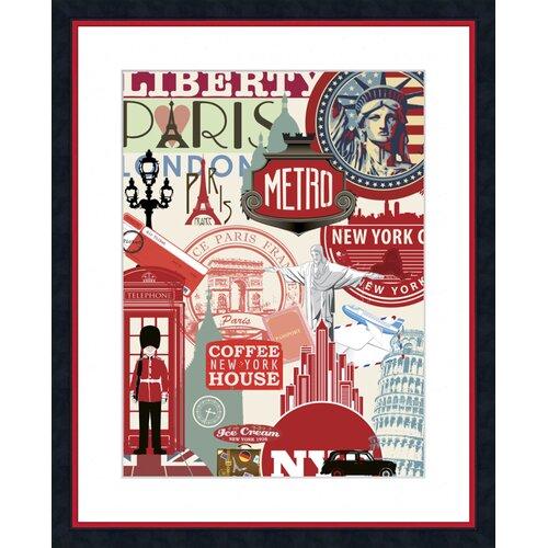 Paris Liberty Framed Graphic Art