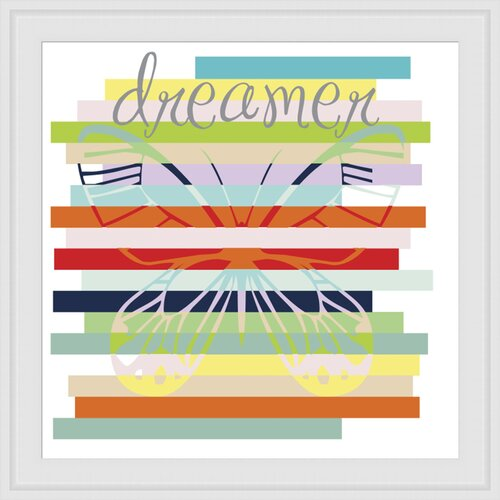 Butterfly Rainbow Framed Graphic Art