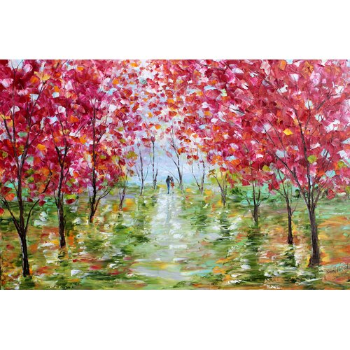 'Spring Stroll Romance' by Karen Tarlton Painting Print on Canvas